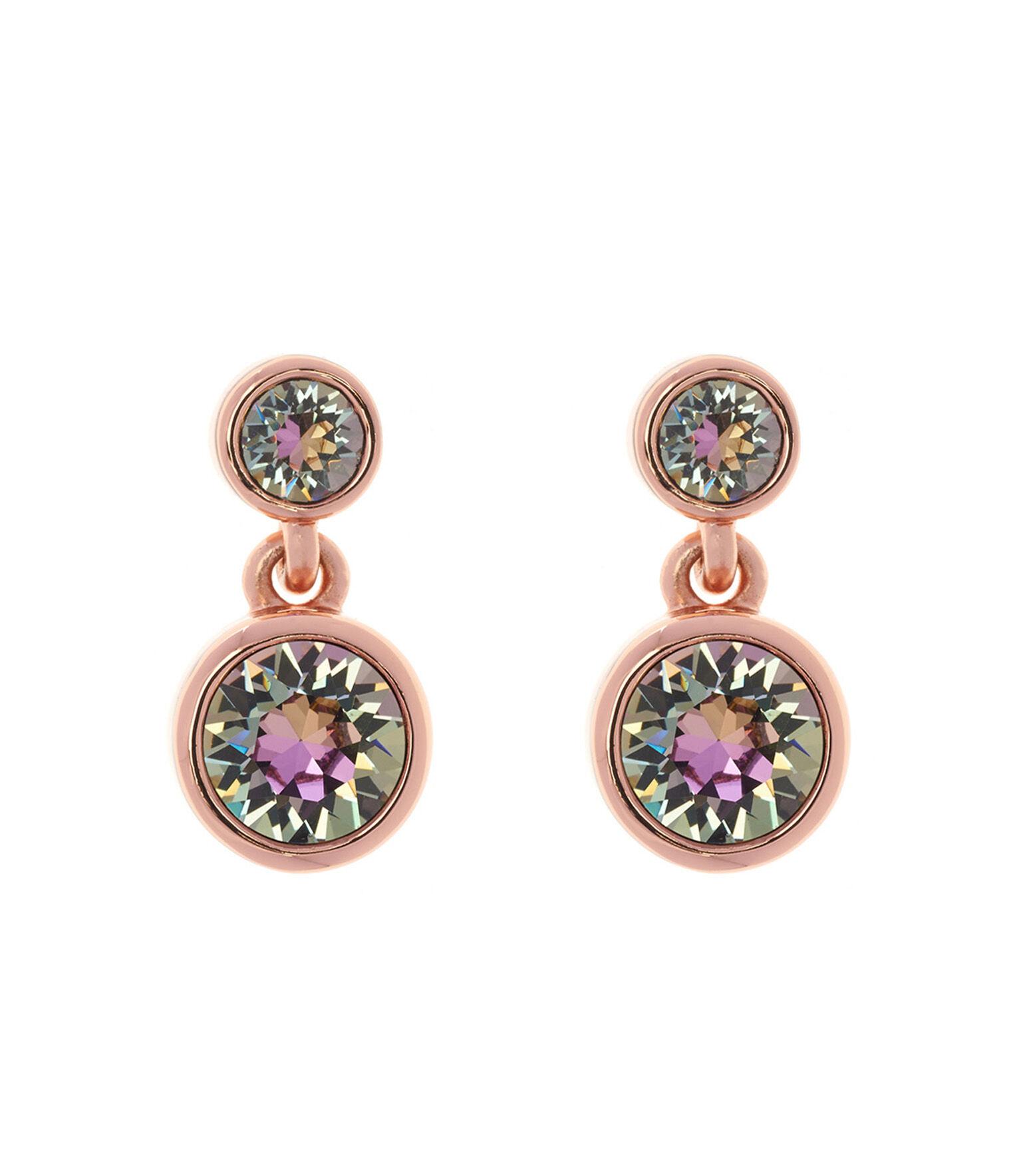 Karen Millen, Crystal dot earrings Rose Gold 0