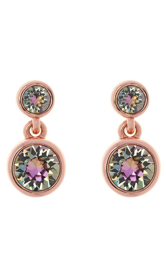 Karen Millen, Crystal dot earrings Rose Gold 0