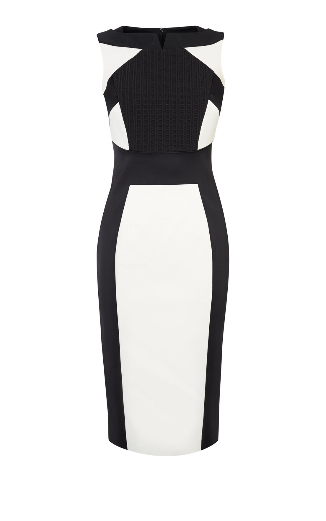 Karen Millen, MONOCHROME PENCIL DRESS Black & White 0