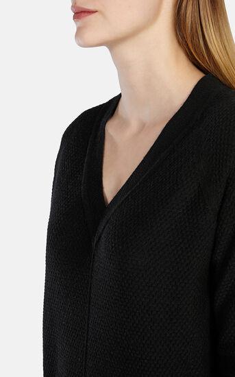 Karen Millen, OVERSIZED V-NECK TUNIC Black 4