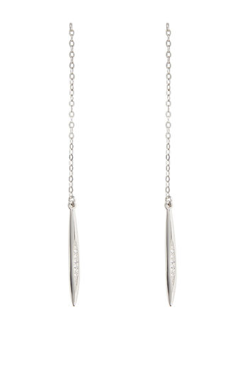 Karen Millen, CRYSTAL CHAIN EARRINGS KM 0