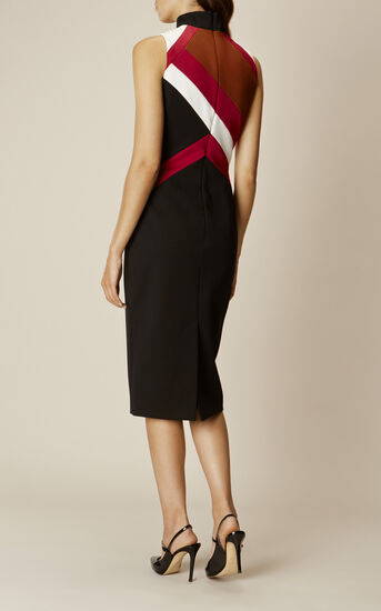 Karen Millen, GRAPHIC-PANEL PENCIL DRESS Multicolour 3