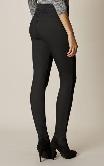 Karen Millen, BLACK BUTTON LEGGINGS Black 3
