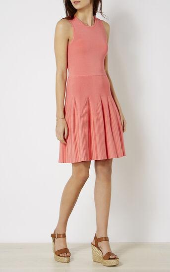 Karen Millen, RIBBED KNIT DRESS Pink 1