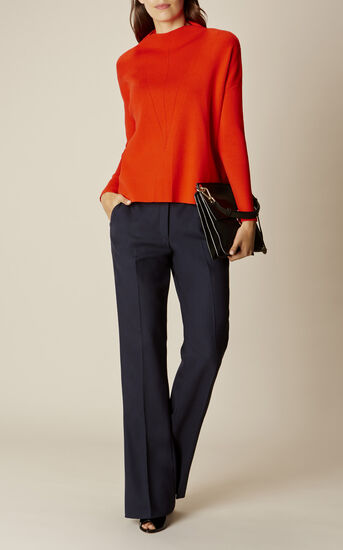 Karen Millen, FUNNEL-NECK KNIT Orange 1