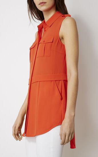 Karen Millen, SLEEVELESS UTILITY SHIRT Orange 2