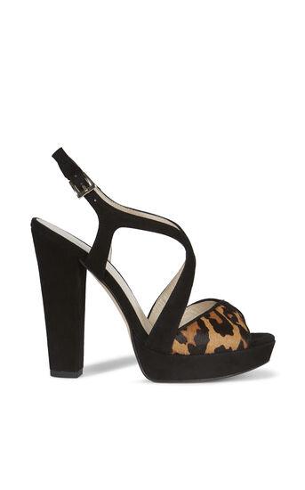 Karen Millen, SUEDE PLATFORM SANDAL Leopard Print 0