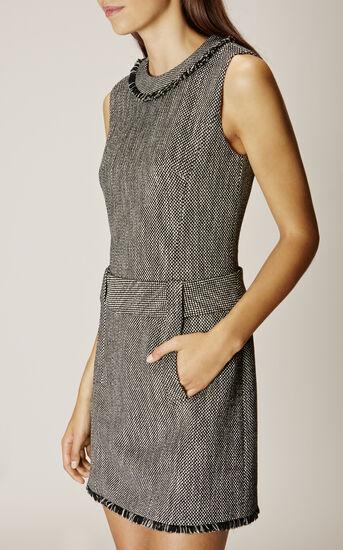 Karen Millen, TWEED DRESS Black/Multi 2