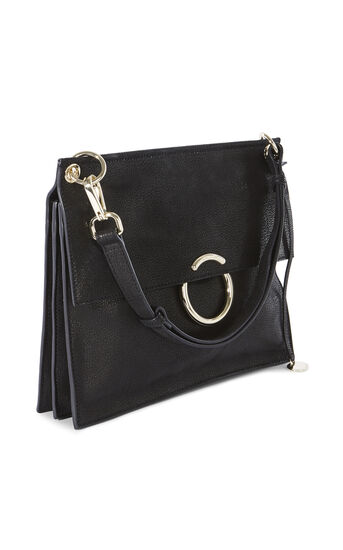 Karen Millen, O RING SHOULDER BAG Black 3