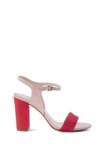 Karen Millen, PASTEL BLOCK-HEEL SANDAL Pink/Multi 0
