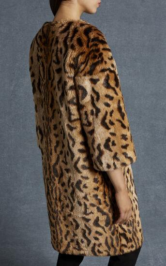 Karen Millen, LEOPARD PRINT FAUX FUR COAT Leopard Print 3