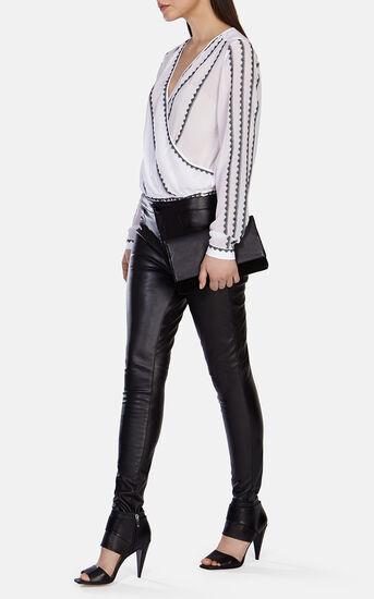 Karen Millen, Leather Look Legging Black 1