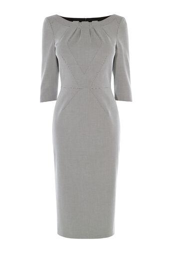 Karen Millen, CHECKED PENCIL DRESS Blk&Wht 0