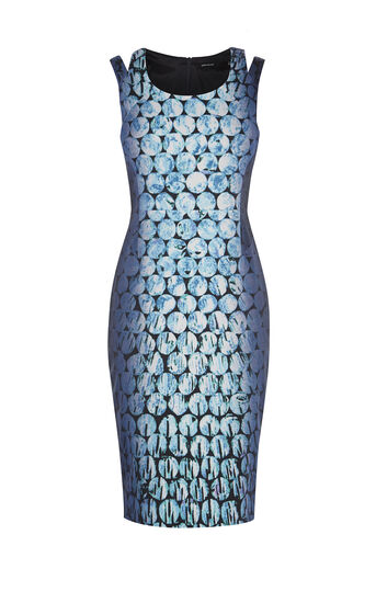 Karen Millen, JEWEL-PRINT PENCIL DRESS Green/Multi 0