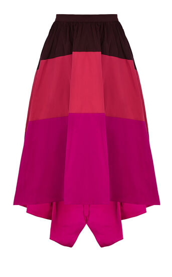 Karen Millen, COLOURBLOCKED FULL SKIRTED MAX Multi 0
