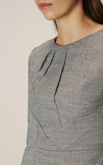 Karen Millen, TAILORED DRESS Grey 4