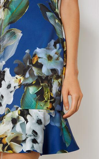 Karen Millen, FLORAL SCUBA DRESS Blue/Multi 4