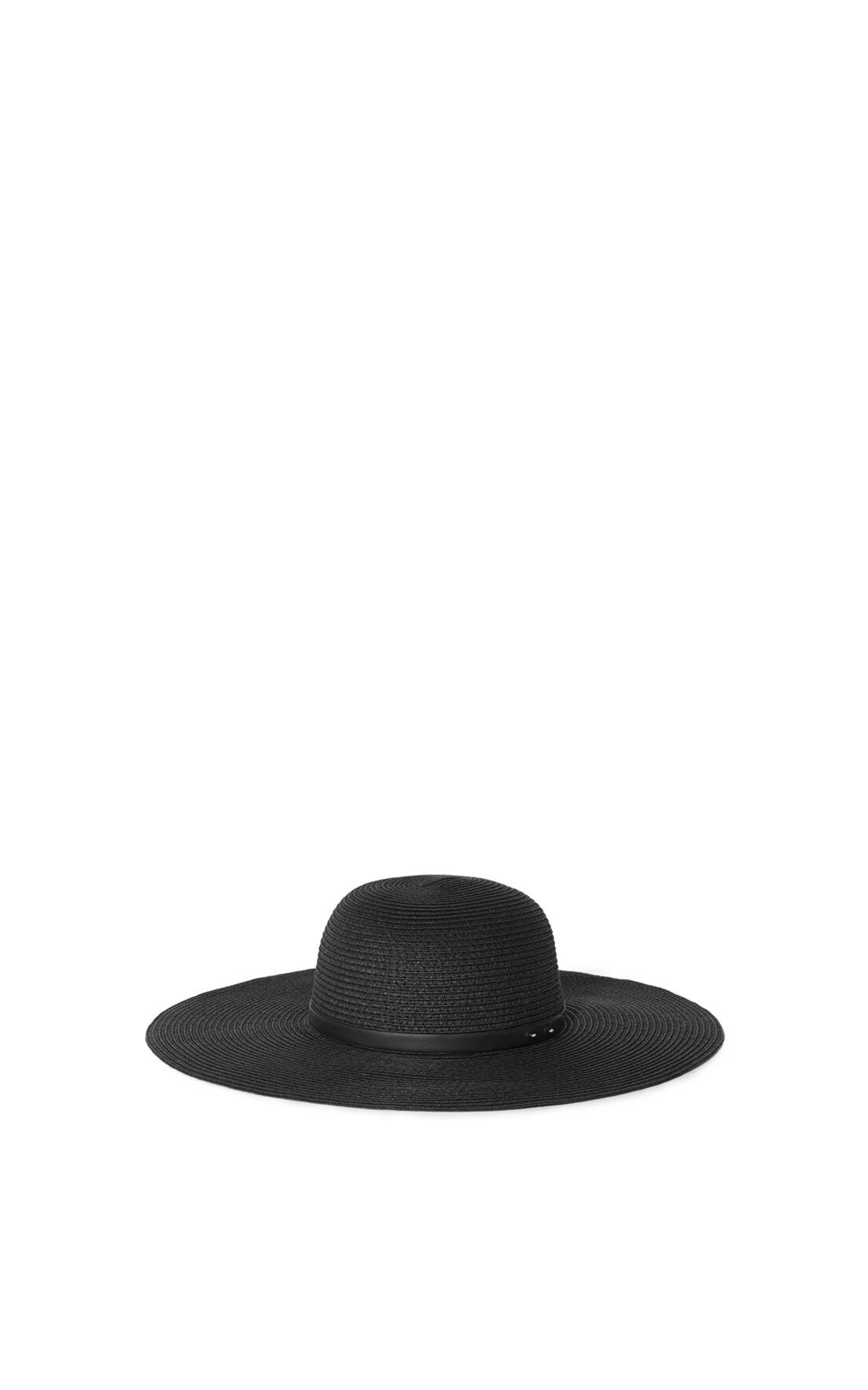 Karen Millen, FLOPPY WIDE-BRIM HAT Black 0