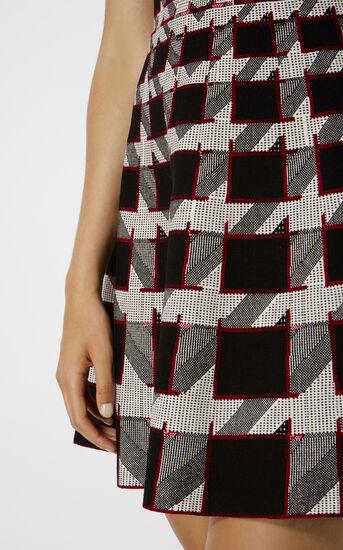 Karen Millen, GRAPHIC HOUNDSTOOTH DRESS Black/Multi 4