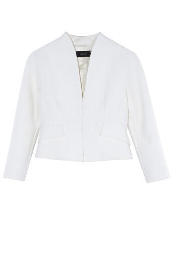 Karen Millen, TEXTURED WHITE JACKET White 0