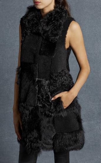 Karen Millen, BLACK PATCHWORK GILET Black 2