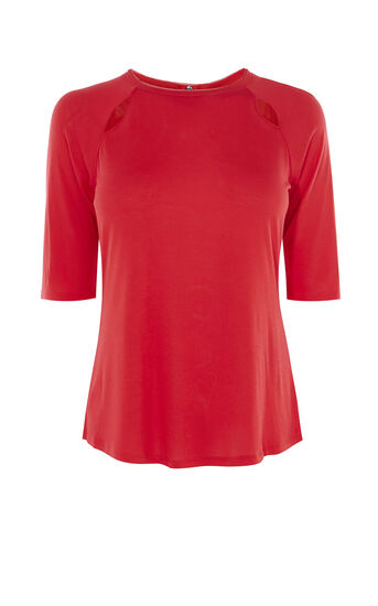 Karen Millen, TINY CUT-OUT TOP Red 0