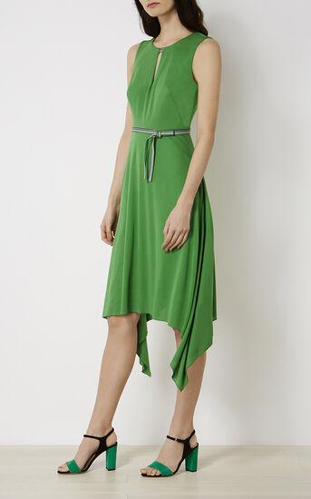 Karen Millen, FLUID GREEN DRESS Green 2
