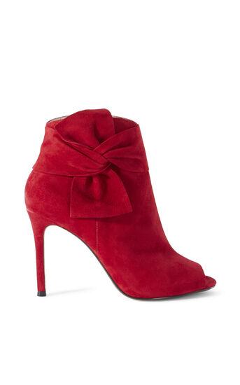 Karen Millen, BOW ANKLE BOOT Red 0