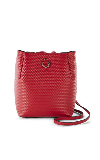 Karen Millen, EMBOSSED SQUARE BAG Red 0