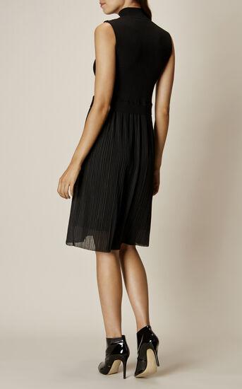 Karen Millen, PLEAT-SKIRT DRESS Black 3