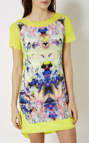 Karen Millen, PRINTED SILK T-SHIRT DRESS Multicolour 2