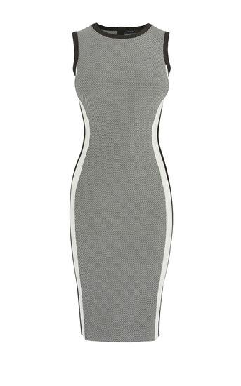 Karen Millen, ATHLETIC KNIT DRESS Black & White 0