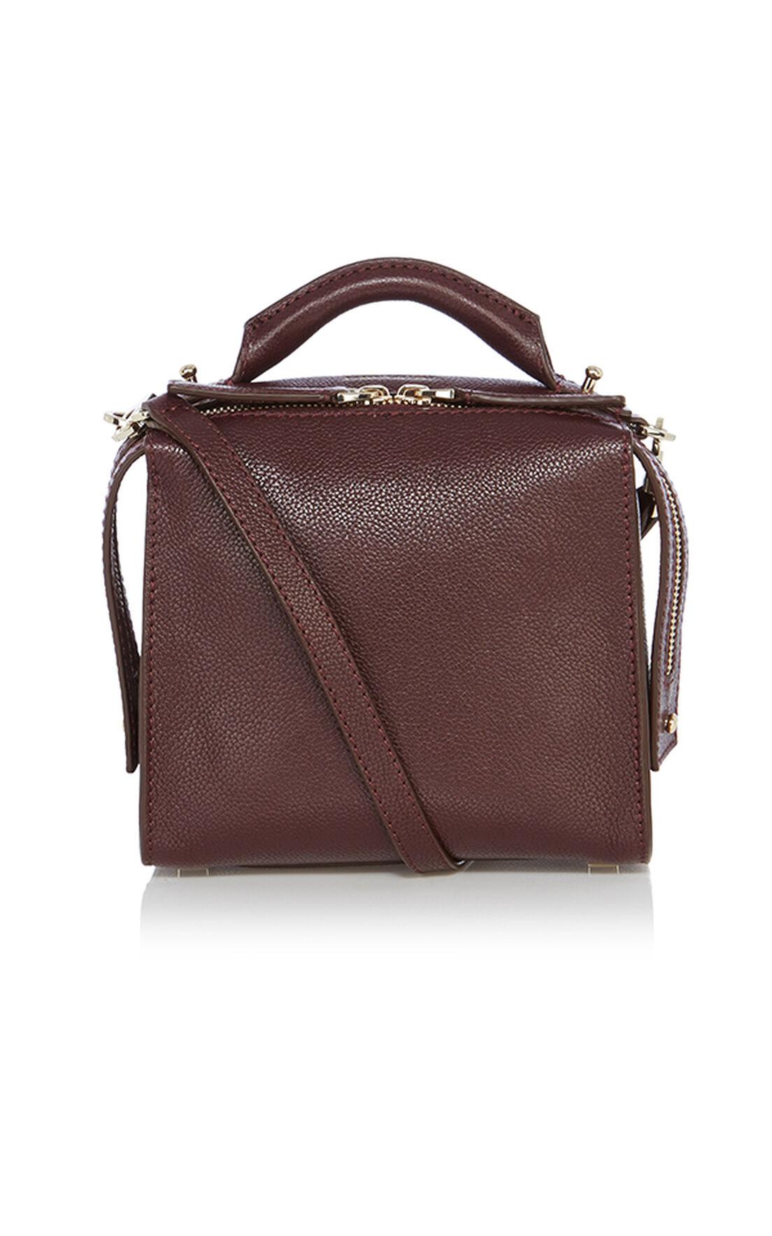 Karen Millen, Leather Box Bag Burgundy 0