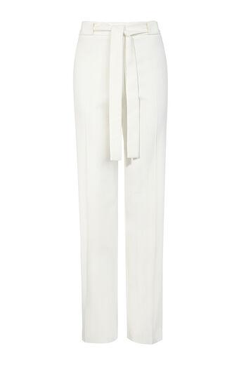 Karen Millen, TAILORED WIDE-LEG TROUSER White 0