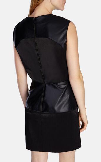 Karen Millen, COATED DRAPED DRESS Black 3