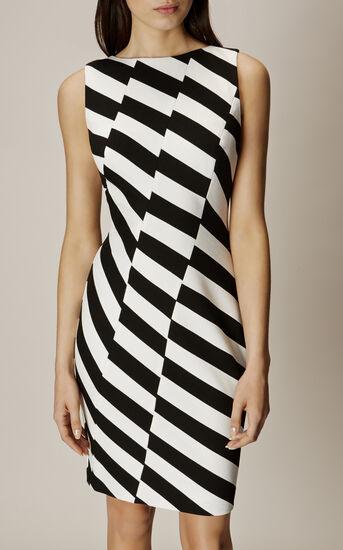Karen Millen, BARCODE DRESS Black & White 2