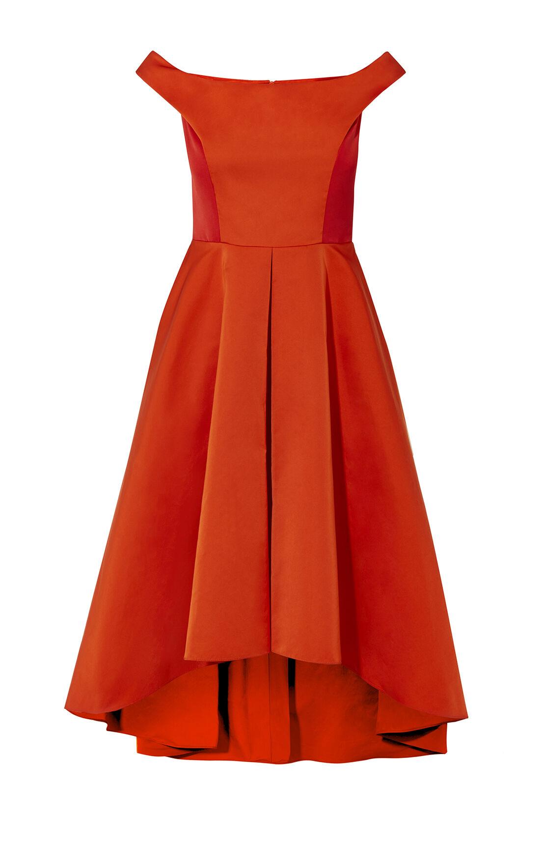 Karen Millen, OFF-THE-SHOULDER PROM DRESS Red 0