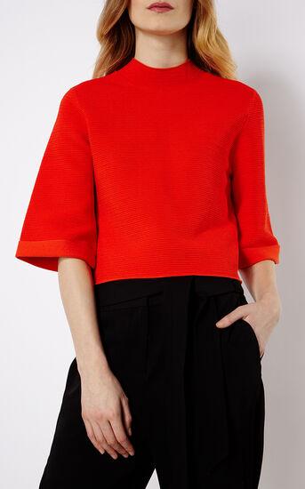 Karen Millen, RIBBED JUMPER Red 2