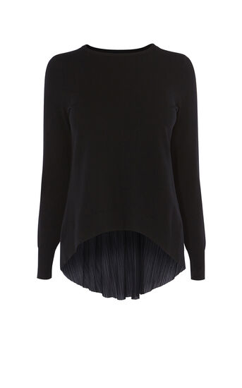 Karen Millen, PLEAT-PANEL TOP Black 0