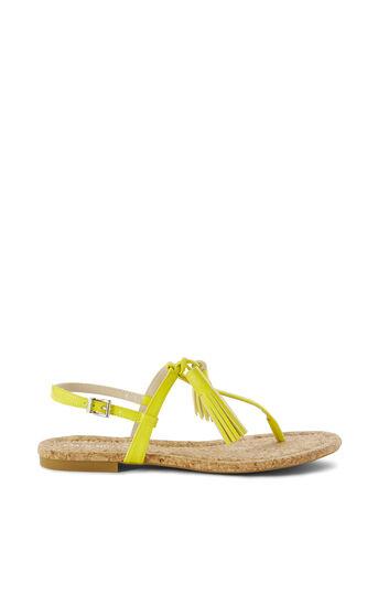 Karen Millen, TASSEL FLAT SANDAL Lime 0