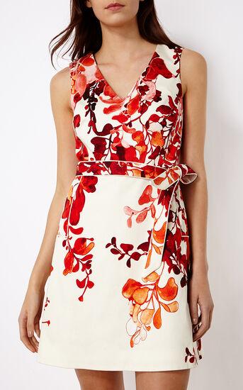 Karen Millen, FLORAL DRESS Pink/Multi 2