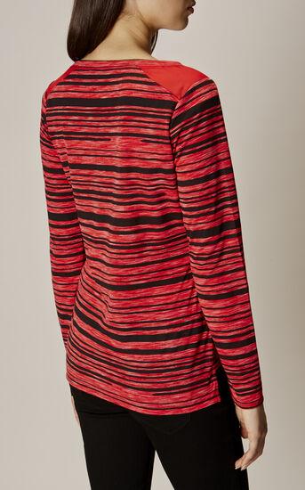 Karen Millen, STRIPE T-SHIRT Red/Multi 3