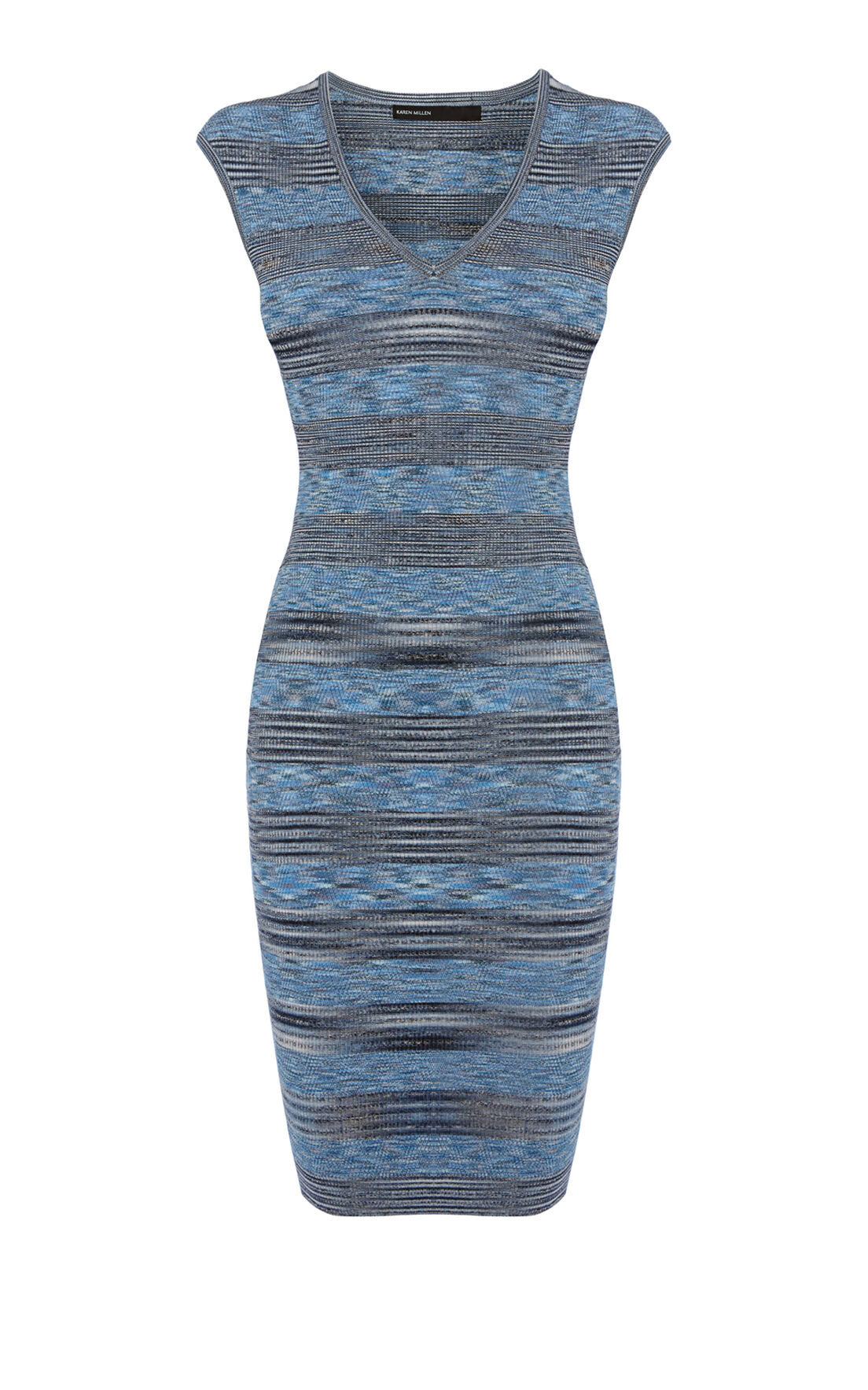 Karen Millen, Space Dye Viscose Stripe Banda Blue/Multi 0