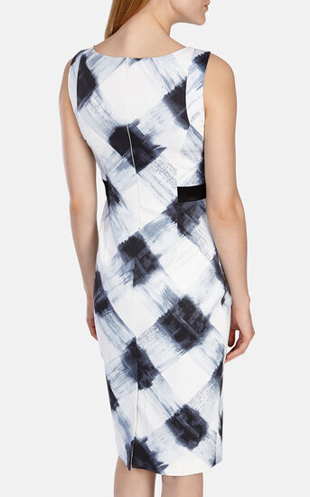 Karen Millen, Art print stretch dress Blk&Wht 3