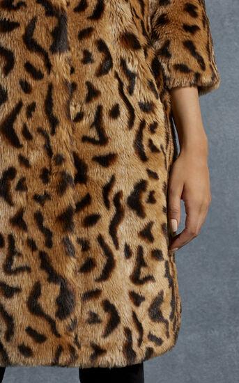 Karen Millen, LEOPARD PRINT FAUX FUR COAT Leopard Print 4