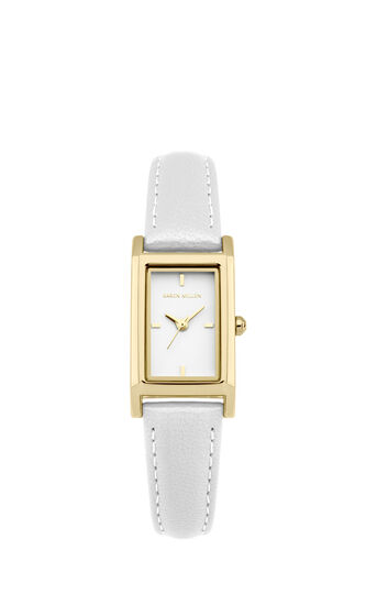 Karen Millen, Rectangle Face Leather White 0