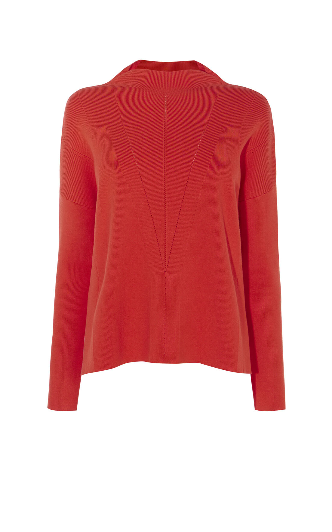 Karen Millen, FUNNEL-NECK KNIT Orange 0