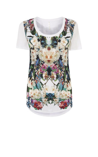 Karen Millen, JUNGLE-PRINT T-SHIRT Multicolour 0