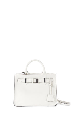 Karen Millen, MEDIUM FOLD-OVER LEATHER TOTE White 0