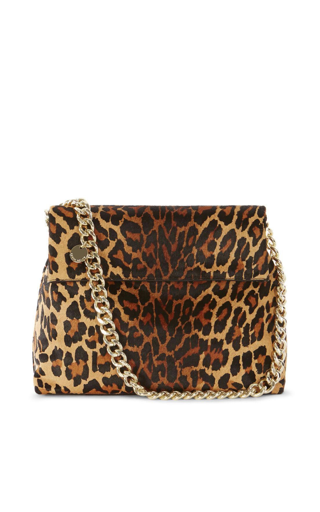 Karen Millen, REGENT SUEDE AND LEATHER BAG Leopard Print 0